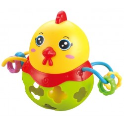 Interaktywny kurczaczek grzechotka - żółty