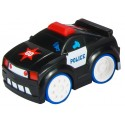 Interaktywne auto policji z odgłosem silnika-czarne