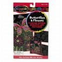 Zdrapka do grawerowania motylki i kwiatki