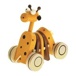 Zabawka na sznurku Żyrafa do ciągnięcia