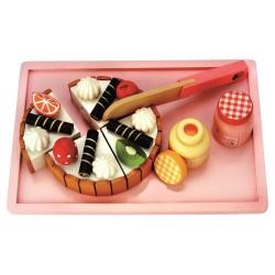 Bino drewniany tort urodzinowy