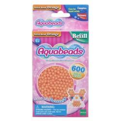 Aquabeads Pomarańczowe lite koraliki