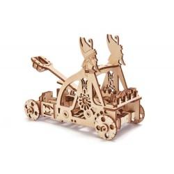Puzzle mechaniczne 3D Wood Trick katapulta