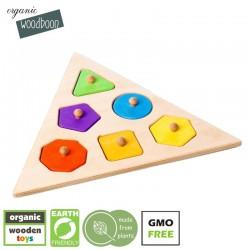 organic woodboon SHAPES TRIANGLE Puzzle Układanka Edukacyjna