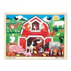 Duże drewniane puzzle – Zwierzęta w oborze – 24el.