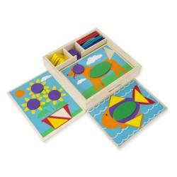 Drewniana układanka – Mozaika – kolory i kształty