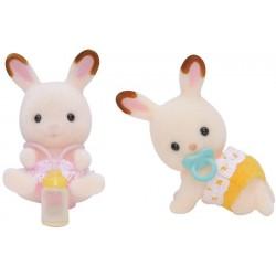 Sylvanian Families Bliźniaki królików z czekoladowymi uszkami
