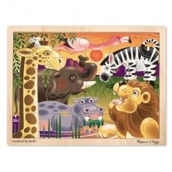 Duże drewniane puzzle – Afryka - 24 el.