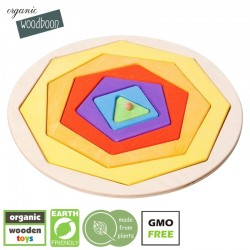 organic woodboon COLOR SHAPES Kształty i Kolory Puzzle Układanka Edukacyjna