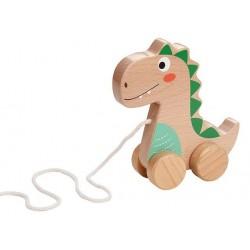 Dinozaur na sznurku do ciągnięcia