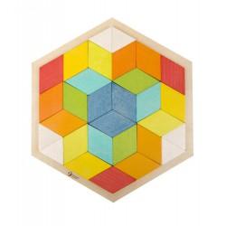 Układanka romby - klocki logiczne mozaikowe