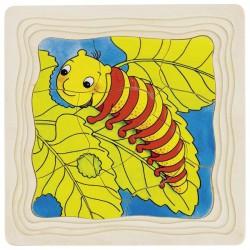 Puzzle warstwowe gąsienica